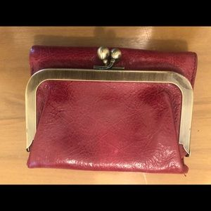Red Hobo brand leather wallet